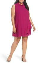 Vince Camuto Ruffle Chiffon Shift Dress, size 20W, MSRP $148 #D1043 - $64.08