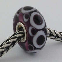 Authentic Trollbeads Ooak Universal Unique (30) Murano Glass Bead Charm Fits All - $33.24