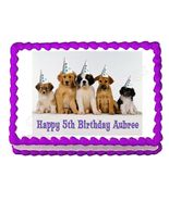 Puppy Party Edible Cake Image Cake Topper - $8.98