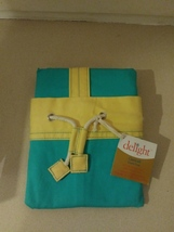 Scene Weaver Carry-All Laundry Bag Turquoise And Yellow - $24.99