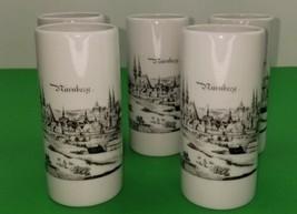 Royal Porzellan Bavaria KM German Drinking Glasses Nuremberg Landscape L... - $37.40