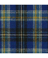 Maharam Upholstery Fabric Pressed Plaid Wool Cobalt Blue 1.125 yds 46618... - $80.16