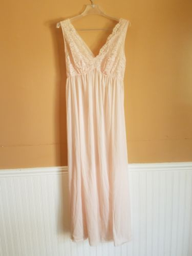 767f8ab1f54d Vintage Lingerie Gown Pink Double Nylon and 50 similar items. 12