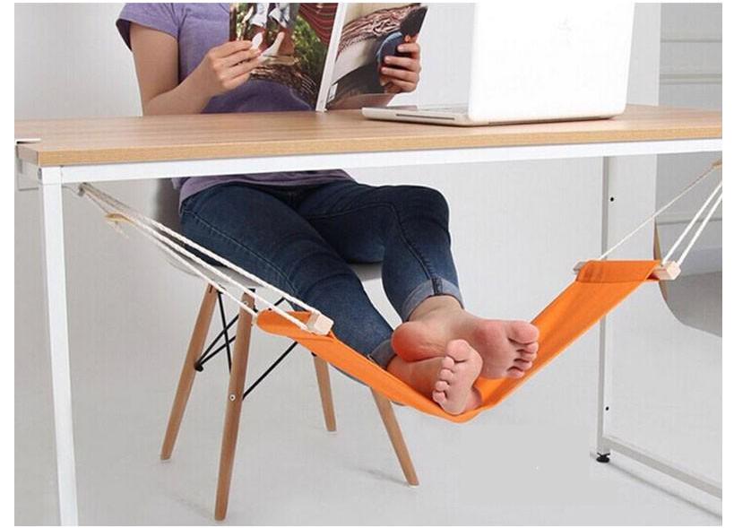 Foot Rest Office Desk Hammock Portable Feet Stand Mini Adjustable Home Footrest