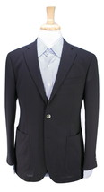 * CHESTER BARRIE * Savile Row Solid Black Patch Pocket MOP Button Blazer... - $129.50