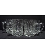 Set of 4 Tiffany & Co Crystal Rock Cut 16 Ounce Beer Mugs - $149.00