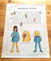 Betsy McCall Paper Doll, Uncut with Clothes, Betsy McCall's April Fool 1968 - $5.94