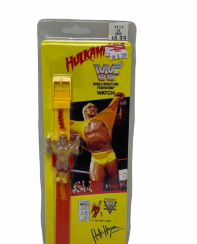 Vtg Sealed New HULK HOGAN WATCH ON ORIGINAL CARD WWF MARVEL TITAN SPORTS 1991