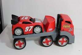 LITTLE TIKES Red Race Car Hauler Heavy Duty Semi-Truck - $39.95