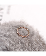 YUN RUO 2018 New Simple Wave Finger Ring Rose Gold Color Fashion Titaniu... - $10.60