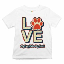 Dog Paw Love Youth T-shirt My Dog Stole My Heart Pet Owner Animal Lover ... - $13.63+