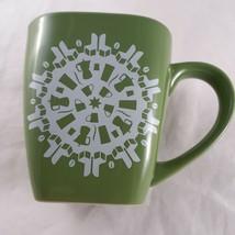 Starbucks Square Christmas Snowflake Coffee Mugs 2004 Red & Green set of... - $23.75