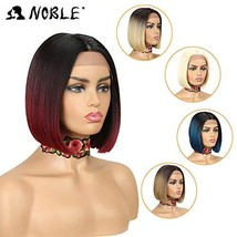 Lace Wigs for Black Women NOBLE Glueless Lace Front Wigs Red color BOB W... - $31.55