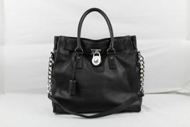 Michael Kors Black Leather Hamilton Handbag/Sho... - $197.99