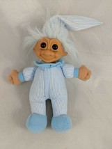 "Russ Troll Doll Plush 6.5"" Blue Pajamas Stuffed toy - $7.95"