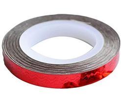 4 Rolls Wave Pattern Striping Tape Line Nail Art Decoration Sticker, Red
