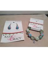 NEW Kate & Macy Hand Painted Glass Bracelet/Earring Sisters Forever Set - $34.65
