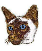Amazing Custom Cat Portraits[Siamese CatFace ] Embroidered Iron On/Sew p... - $5.93