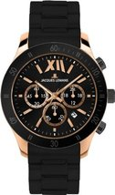 Jacques Lemans Men's 1-1586Q Rome Sports Sport Analog Chronograph with Silicone  image 2