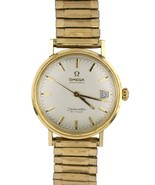Vintage Men's Omega Seamaster De Ville Automatic 14K Yellow Gold Watch 35mm - $1,399.95