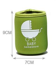Set Of 2 Feeder Milk Bottle Deading Warm Keep Pretecter Bag (97CM)/Green