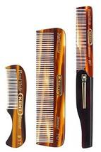 Kent Set of Combs - 81T Beard and Mustache Comb, FOT Pocket Comb, and 20T Foldin