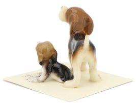 Hagen Renaker Miniature Dog Beagle and Puppy Ceramic Figurine Set image 4