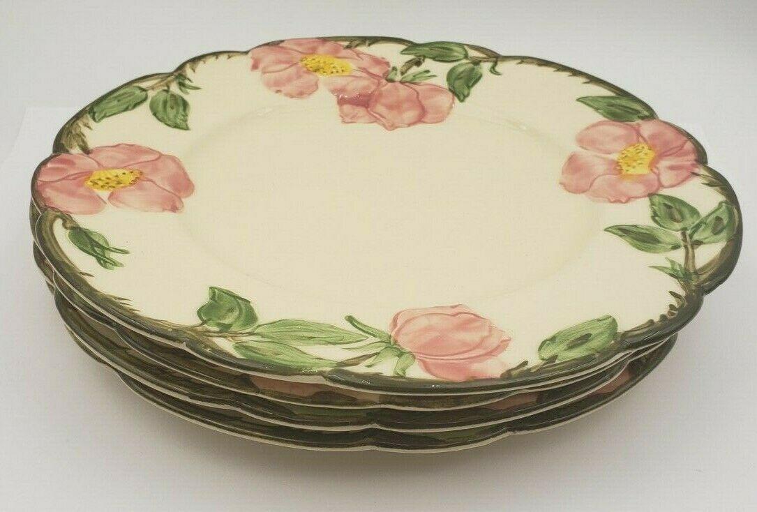 """4 Franciscan Desert Rose 7 7/8"""" Dessert Plates"""