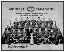 NHL 1953 Montreal Canadiens Stanley Cup Champions Team Picture 8 X 10 Ph... - $5.93