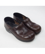 DANSKO Oiled Brown Leather Occupational Nursing Clogs Shoes Womens 40 9.... - $34.64
