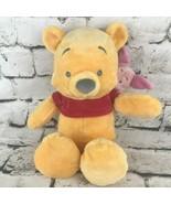 Disney Parks Winnie The Pooh Plush With Piglet Riding Piggyback Soft Stu... - $24.74