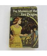 Nancy Drew #38 Mystery Of The Fire Dragon, Vintage Carolyn Keene Hardcover Book - $69.99