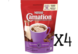 Nestle Carnation Hot Chocolate Marshmallow 450g x4 bags  18 servings CANADA - $42.56
