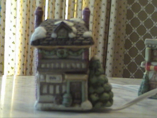 5 Piece Porcelain & Lighted Winter Village Christmas Holiday Centerpiece
