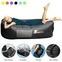 SEGOAL Inflatable Lounger Air Sofa Pouch Inflatable Couch Air Chair Hamm... - $41.17