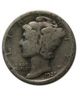 1921 Mercury Silver Dime 10¢ Coin Lot# MZ 3783 - $673,53 MXN