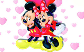 "Cartoon Art Home Decor Oil Painting Print On Canvas""Mickey And Minnie""Fr... - $17.81+"