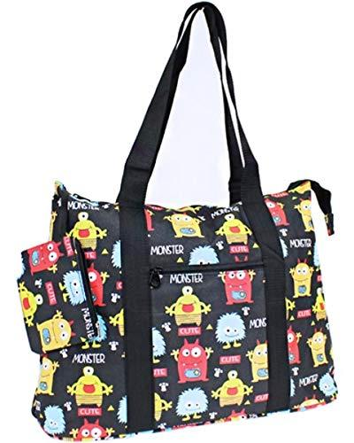 Monster Print Large Tote Bag Purse Travel Luggage