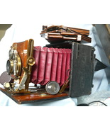 Sanderson Mahogany and Brass English Folding Camera c/w Red Bellows + DDS -RARE  - $400.00