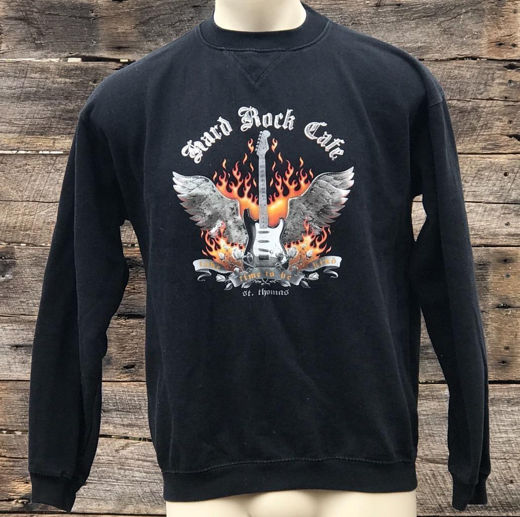 93a68aa4 S l1600. S l1600. Previous. Hard Rock Cafe St. Thomas Virgin Islands Black  Sweatshirt Size M. Hard ...