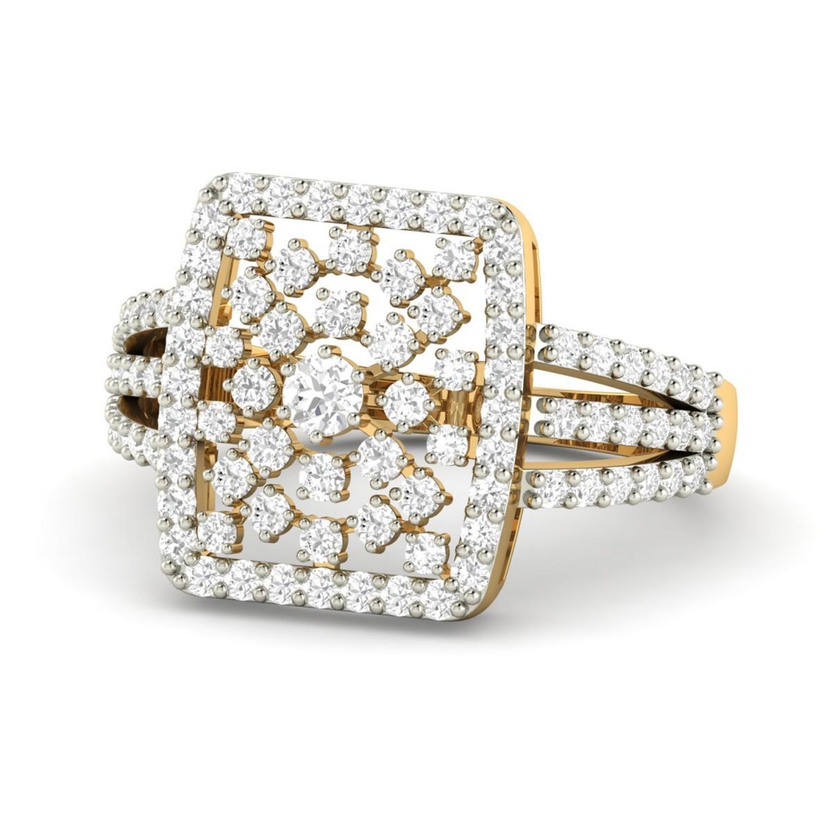 Gold diamond wedding rings for women