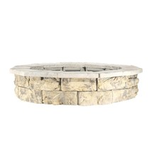 Fire Pit Kit 44 in. x 14 in. 360 Fire View Concrete Fossill Limestone Gray - $1,036.35