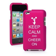 Pink Apple iPod Touch 4th Gen Rubber Hard Case Cover Keep Calm and Cheer On - $12.86