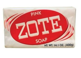 Zote Pink Rosa Bars Soap Large 14.1oz Stain Remover Clean Makeup Brushe... - $16.34