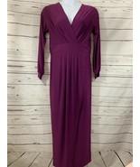 Women's Venus Sz L Magneta Long Sleeve V-neck Long Sleeve Stretchy Long ... - $14.03
