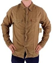 BRAND NEW LEVI'S MEN'S LINEN LONG SLEEVE CASUAL DRESS SHIRT BROWN 8151400