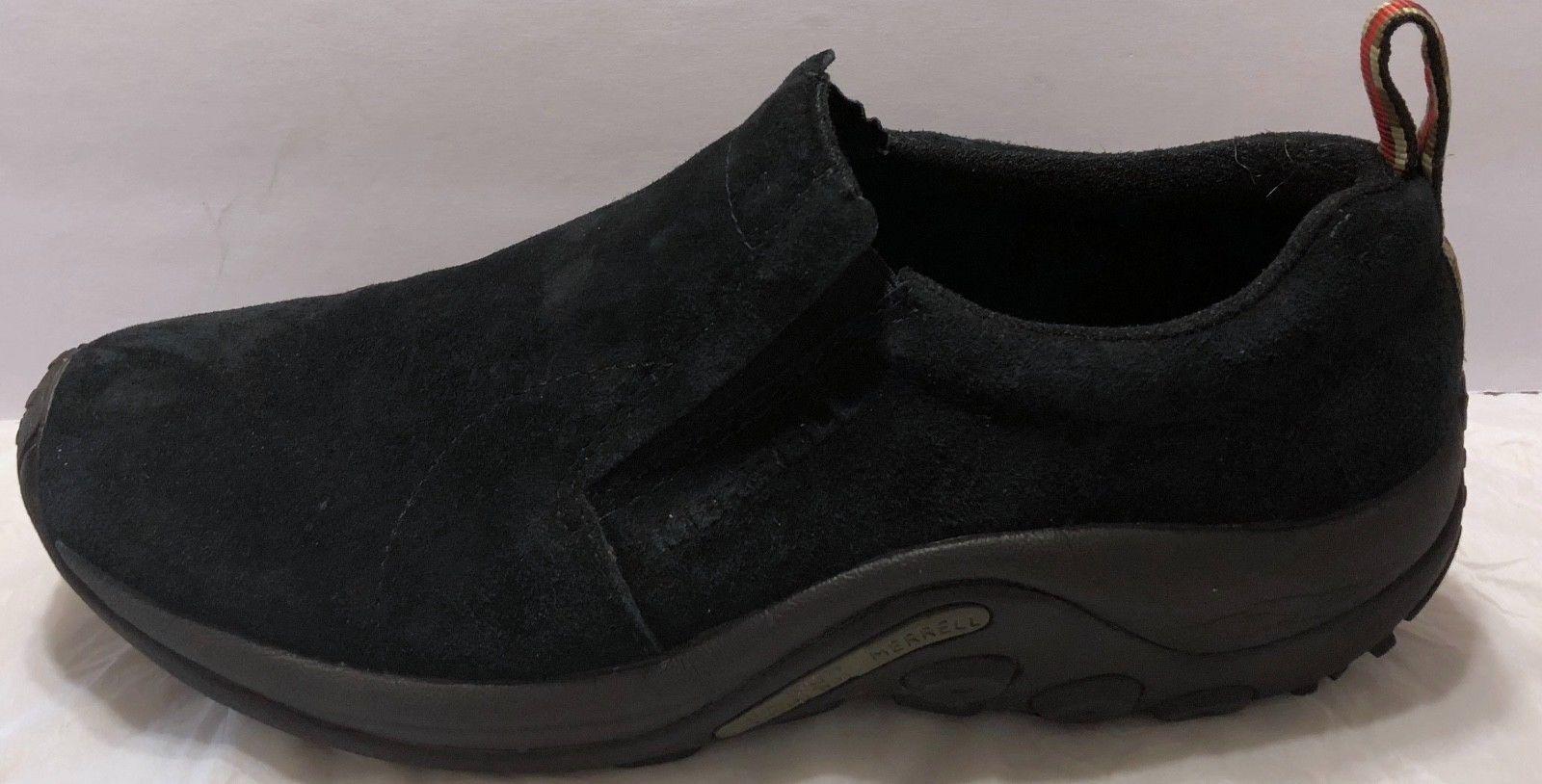 Merrell Midnight Moc Black Nubuck Shoes Size 11.5 Slip On Hiking Trail Walking