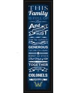 "Wilkes University ""Colonels""- 24 x 8 Family Cheer Framed Print - $39.95"