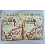The Big Broadcast Vintage Carpeta Lámina 2 Songs Please & Here Lies Love - $55.78