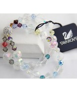 SWAROVSKI SWAN TAG Double Strand AB CRYSTAL BRACELET NEW WITH TAG Magnet... - $138.75